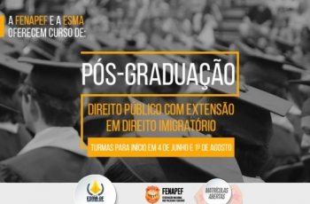 Fenapef e Amagis fecham parceria em curso de Pós-graduação